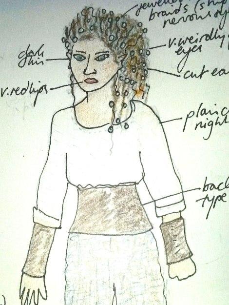 Superfreak Melanie Kendry Original Art Cannibal Woman