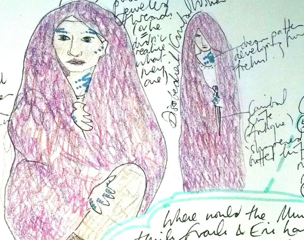 Cannibal Woman Superfreak Early Draft Melanie Kendry Original Art